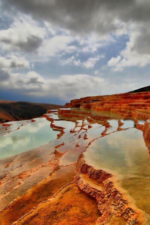 چشمه های رنگی باداب سورت دریاچه  کیاسر